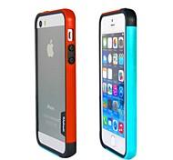 Fashion Double Color TPU Frame Bumper for iPhone5S(Orange+Blue)