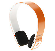 8086 Bluetooth Headset Music On-ear Earphone for Iphone Ipad Computer (Orange)