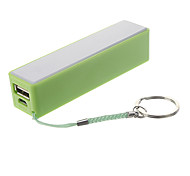 2200mAh Mini Column Shape Polymeride Smart Power Bank for Cell Phones and Pads (Green)