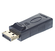 Display port DP macho a HDMI adaptador hembra USB con audio (Negro)