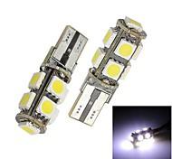Errore Merdia T10 9x5050 SMD LED bianco lampadina gratuita Canbus luce dell'automobile (coppia)