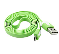 Micro de 5 pines fideos planos Sync Cable de datos USB para Samsung S3 S4 Htc One For Blackberry Nokia Sony