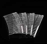Moda pettine a forma di lega d'argento Ganci 5 pc / Bag