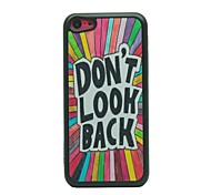 Don't Look Back Drawing Pattern Hard Case for iPhone 5C