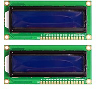 Standard 16×2 Character Blue Backlight LCD Display Module - Black + Green (2PCS)