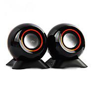 038 Mini Portable Loudspeaker Box for Laptop/PC (Black)