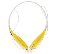 HBS700 Bluetooth Headset with Flexible Neck Strap for Cell Phone(Yellow)
