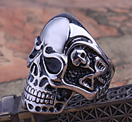 Miss ROSE® Titanium Steel Skull Men's  Ring