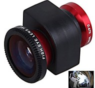 3-in-1 0.67X grandangolare Fisheye180 Degree Lens Macro Set per iPhone 4/4S (colori assortiti)