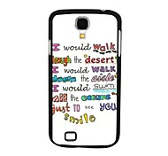 Elonbo J4F Letter Hard Back Case Cover for Samsung Galaxy S4 I9500