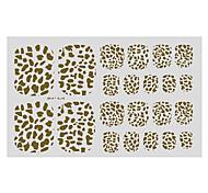 22PCS Abstract Leopard Print Pattern Toenail Art Sticker TJ Sery No.15