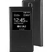 Hoge kwaliteit Beschermende PU Leather Case w / Display Window voor Samsung Galaxy S5/I9600 (verschillende kleuren)