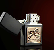 Personalized Father's Day Gift Engraved Desert Fox Pattern Black Oil Lighter