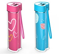 BOCHANG 2600mAh Heart-shaped External Battery Charger for All Kinds of Mobile Devices(Random Colors)