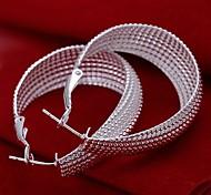 Fashion Silber überzogene Zink-Legierung Ohrringe (1 Paar)