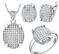 Jewelry-Necklaces / Earrings / Rings(Silver Plated)Wedding Wedding Gifts