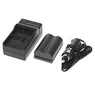 ismartdigi Kamera Akku 1700mAh (2 Stück) + KFZ-Ladegerät für Canon EOS 300D 10D 20D 30D 40D 50D EOS 5D KISS X50 T3 EOS 1100D