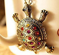 Retro Cute Little Turtle Pendant Necklace