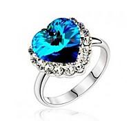 Moda Donna Blu anelli di cristallo (blu) (1 Pc)
