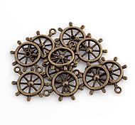 Nettes Rad Shaped Bronze-Legierungs-Charme 10 Stück / Beutel
