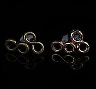 """Klassische Ohr """"8"""" Shaped Gold-Legierung Ohrstecker (Gold, Bronze) (1 Paar)"""