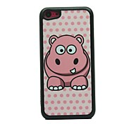 Cutty Hippo Drawing  Pattern  Hard  Case for iPhone 5C