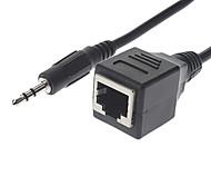 3,5 mm à RJ45 mâle à femelle câble de conversion (0,3)