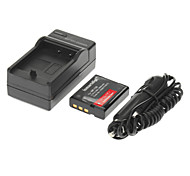 ismartdigi 1800mAh Camera Battery+Car Charger for CASIO EX-ZR1000 ZR1200 ZR300 ZR410