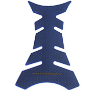 Soft Rubber Motorcycle Fishbone Sticker - Blue