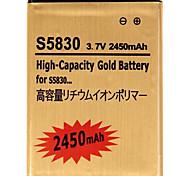 3.7V 2450mAh Reemplazo de la batería de litio-ion para Samsung S5830