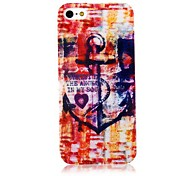 Colorful Anchor Pattern Back Case for iPhone 5/5S