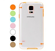 Two Colors Transparent Plastic Hard Case and TPU Frame for Samsung Galaxy S5 I9600