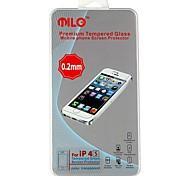 MILO High Quality Ultra Thin 0,2 mm gehärtetes Glas Premium-Screen Protector mit Microfasertuch für iPhone 4/4S