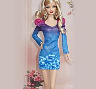 Barbie Doll Blue Office Lady Fashion Suit