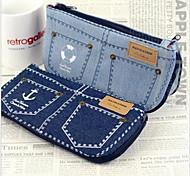 Criativas Jeans design de alta capacidade Pen Bag (cor aleatória)