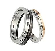 Fashion Lovers Stainless Steel Rotatable Charm Couple Rings (2 Pcs)