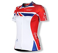 SPAKCT Women's 100% Polyester Short Sleeve Quick Dry Cycling Jersey