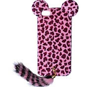 New Edition Leopard Print Pattern Protective Plastic Case with Tail for iPhone 5/5S (Assorted Colors)
