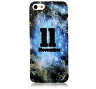 For iPhone 5 Case Case Cover Pattern Back Cover Case Word / Phrase Soft PC for iPhone SE/5s iPhone 5