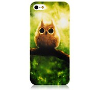 Nightingale Patroon Silicone Soft hoesje voor iPhone4/4S