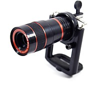 Max 8X Manual Zoom Telephoto Lens with Tension Clip for Cellphone