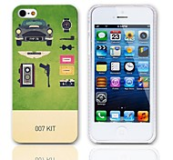 007 Kit Design Hard Case with 3-Pack Screen Protectors for iPhone 5/5S