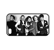 One Direction Die Schwarz-Weiß-Muster Kunststoff Hard Case für iPhone 4/4S