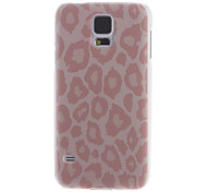 Classic Pink Leopard Print Back Case for Samsung S5/i9600