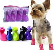 zapatos lindos lluvia mascota botas protectoras para mascotas perros