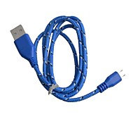 Nylon Woven USB 2.0 Male to Micro USB Male Data / Charging Cable for Samsung