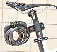 FJQXZ Cycling ABS Engineer Plastic Anti-theft Black Coded Lock