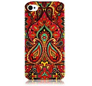 National Style Colorful Line Pattern Silicone Soft Case for iPhone4/4S