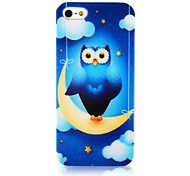 Nightingale Stand Crescent Moon Silicone Soft Case for iPhone4/4S