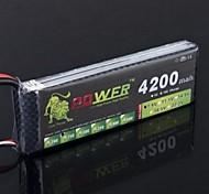 Лев 7.4V 2S 4200mAh 25C Lipo батареи питания для Tamiya HSP RC Car Truck модели (Т Plug)